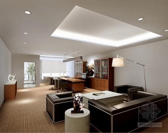 [北京]药品监督管理部门现代高档综合楼室内设计方案领导办公室参考图