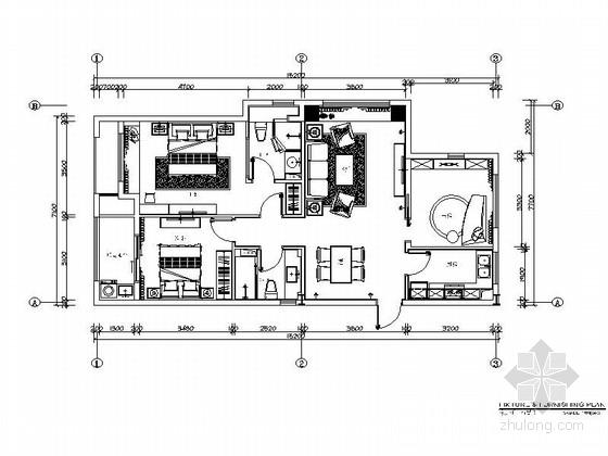 [上海]华丽浪漫主义欧式轻快样板间室内CAD施工图(含效果图及实景图)