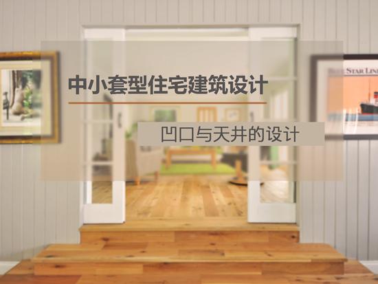 中小套型住宅建筑设计—凹口与天井的设计