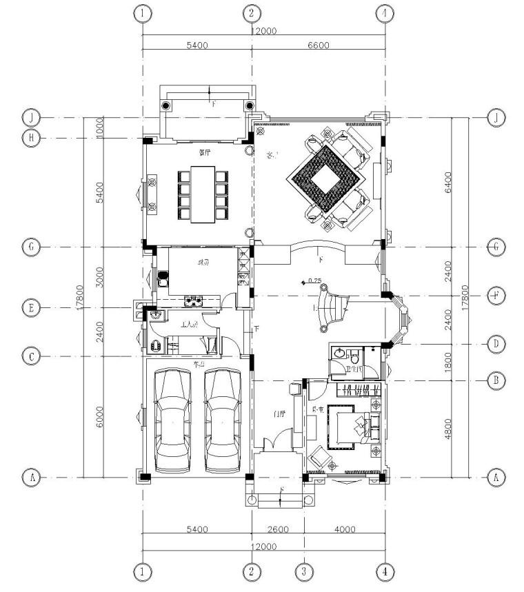 美式古典别墅室内施工图设计(附实景照片)
