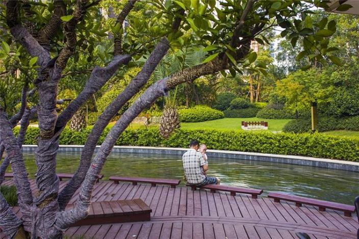 杭州融创瑷颐湾住宅景观的实景图 (7)