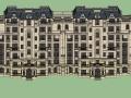 法式风格建筑设计SU模型