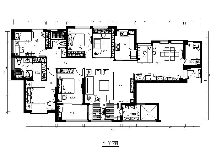 【重庆】新中式样板间设计CAD施工图(含效果图)_1