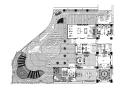 21套屋顶花园CAD施工图(8)办公楼屋顶花园环境工程套图
