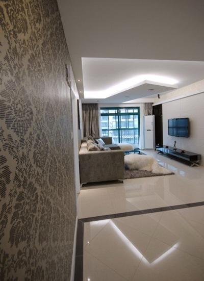 成都三室两厅装修案例 120平现代风格时尚奢华