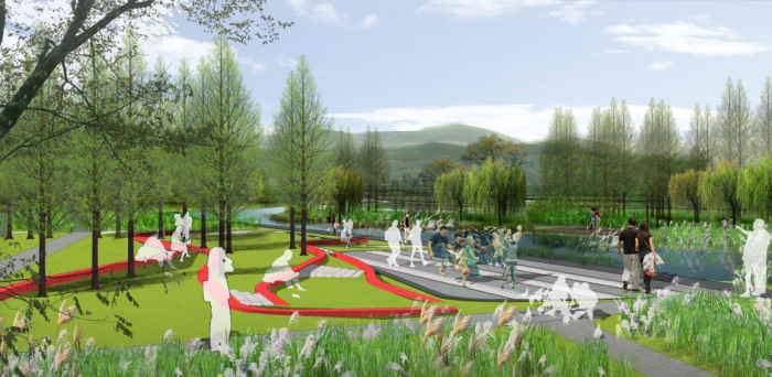 """[贵州]""""蓝色飘带""""中央湿地公园景观设计方案"""