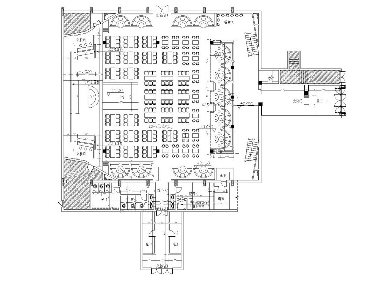 丹东老街摩登酒吧改造施工图及方案效果图