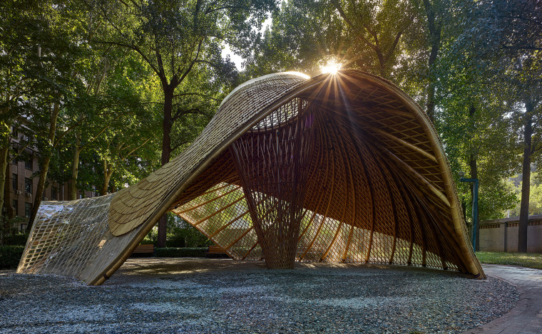 北京林业大学花园节信息亭-019-swirling-cloud-bulletin-pavilion-for-bjfu-garden-festival-by-sup-atelier