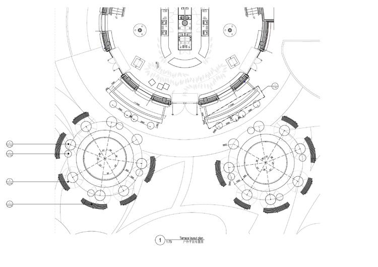 迪斯尼星巴克咖啡屋旗舰店设计施工图(附实景图+效果图+竣工图)