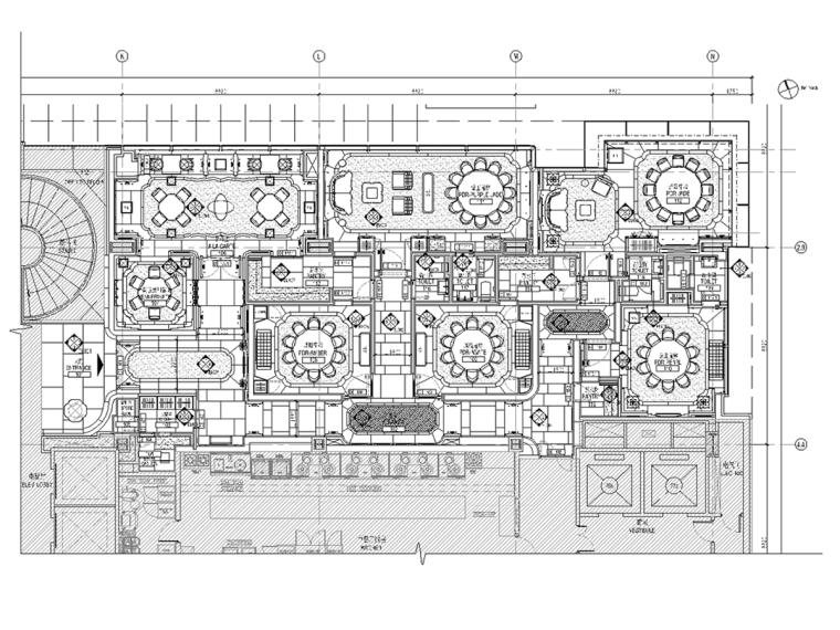 [上海]四季酒店二层中餐厅室内设计(CAD+PDF格式)+效果图