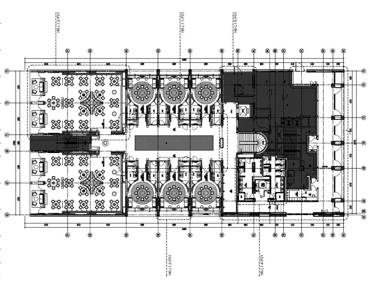 [厦门]全套酒店中餐厅室内设计装饰施工图(含效果图)