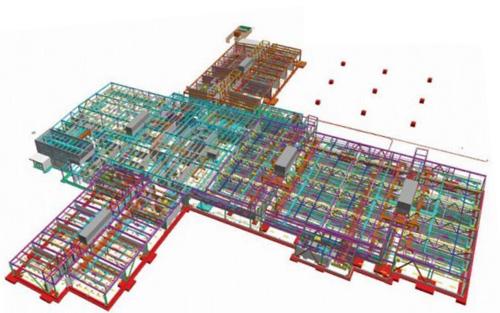 经典的钢结构连廊图纸