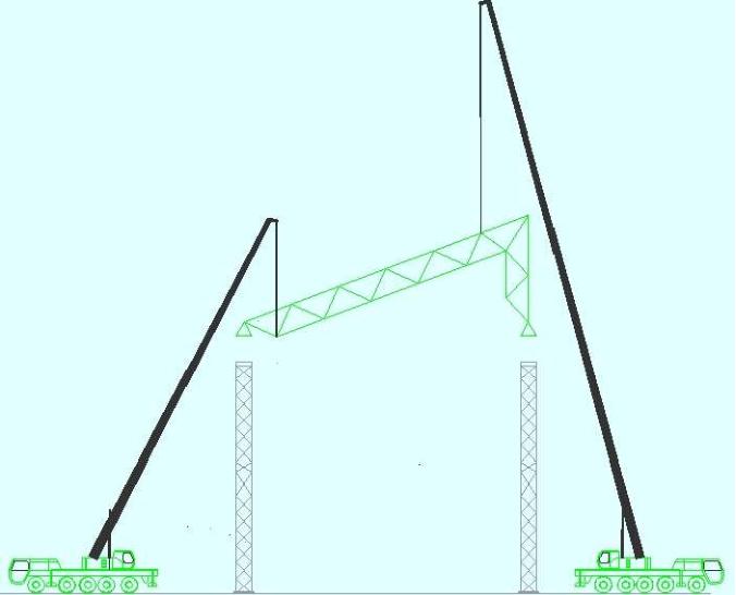 [湖北]综合自然能环岛发电厂项目工程网架吊装施工方案(56页)
