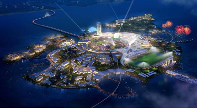 [海口]滨海时尚创意岛总平面初步概念规划设计
