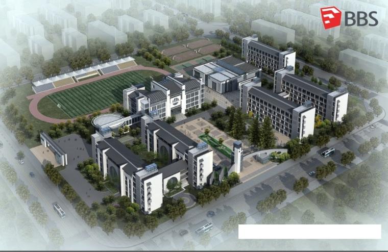 某中学SU建筑模型