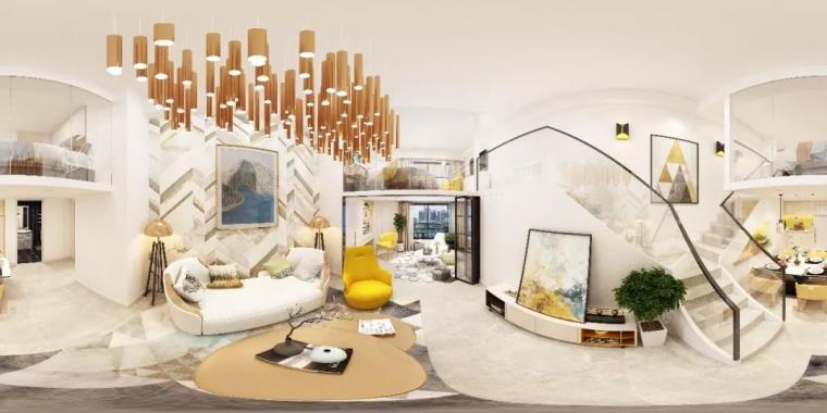 精致主义单层复式公寓「奢雅鎏金」