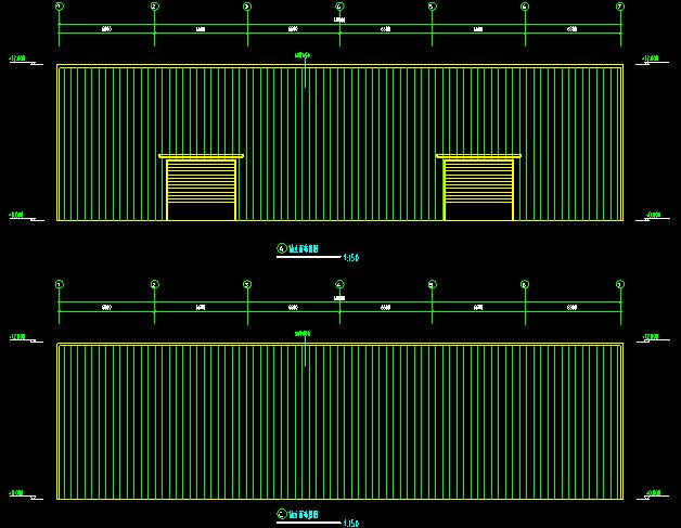 15米×40米钢结构工程CAD