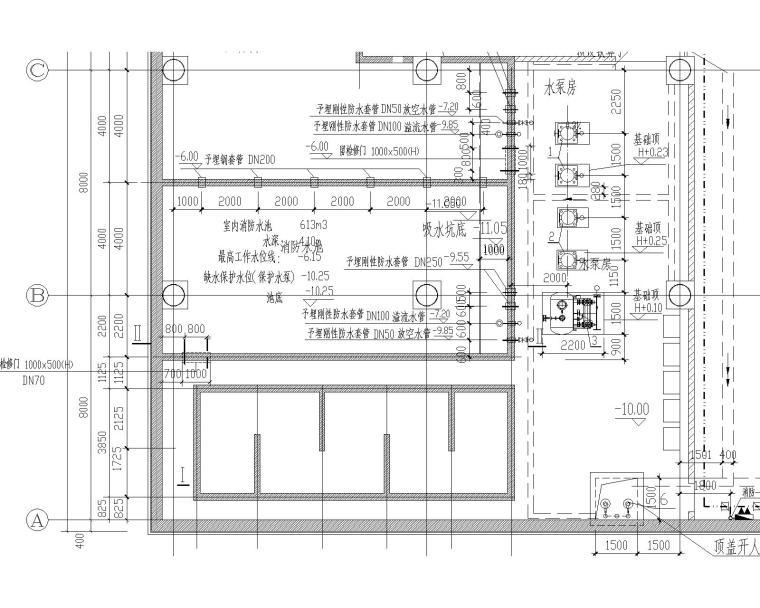 一类高层办公建筑给排水设计图纸(含给水、排水、雨水、消防平面及系统等)