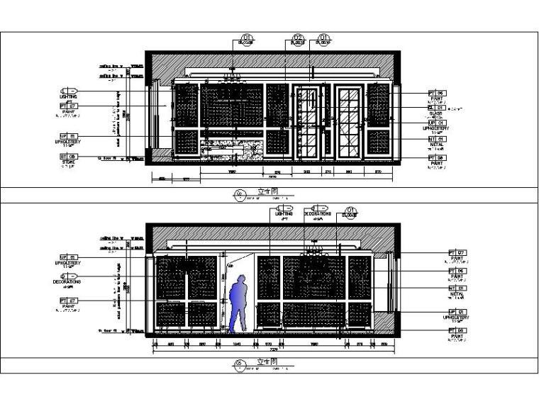 [杭州]欧式两居样板间室内设计施工图(含效果图+实景图)_3