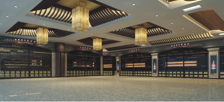 白云国际机场金龙美酒美食城改造项目施工图(含效果图)-大厅效果图