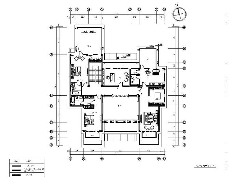 [青岛]全套别墅设计室内装饰施工图_1