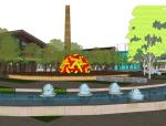 老厂房改造规划项目SU模型
