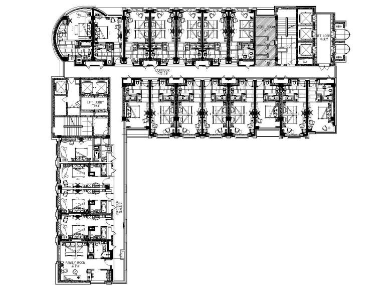 [青岛]海都大酒店室内装饰施工图(附方案效果图)
