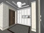 室内设计简欧风格客餐厅SU模型