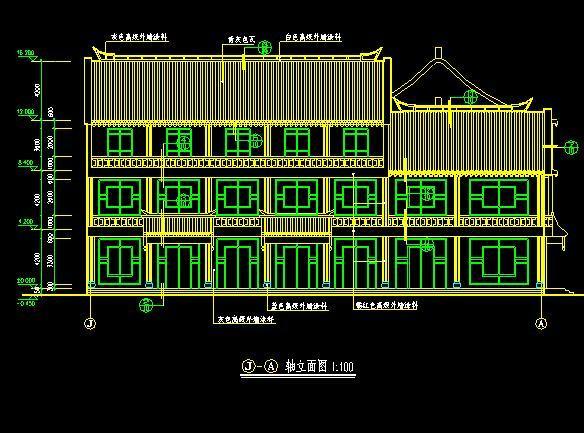 仿古清式公建建筑图