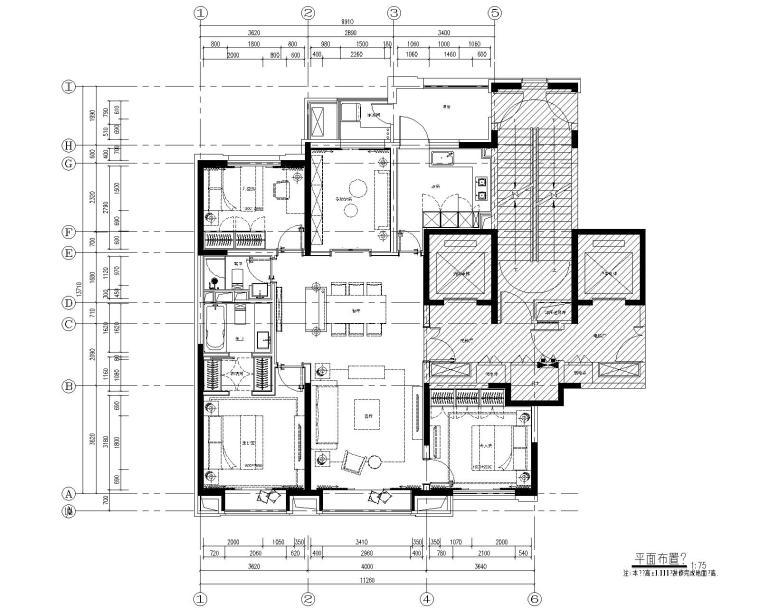 [北京]万科翡翠长安现代中式轻奢样板间设计方案+CAD全套施工图+物料书+效果图_4