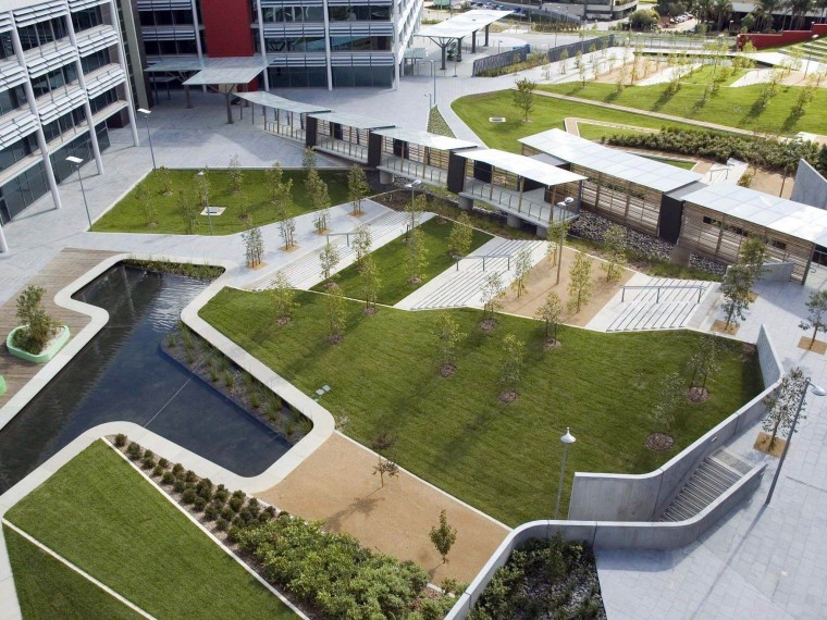 澳大利亚Optus办公中心庭院