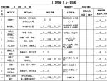工地施工计划表