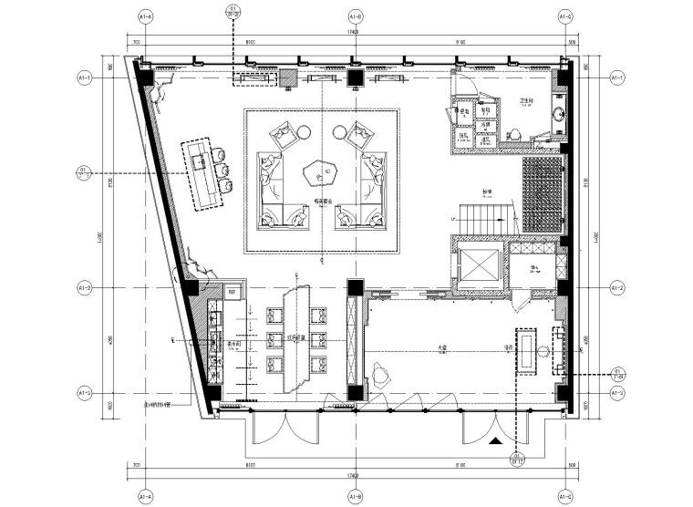 [上海]集艾设计-万科御河硅谷豪华一居室别墅样板房全套施工图+效果图+物料表