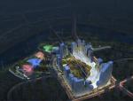 [天津]后现代感紫水晶岩形态生态城城市中心概念设计方案征集