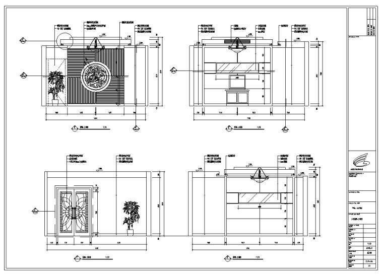 某580平米中餐厅室内装修施工图及效果图(32张)_2