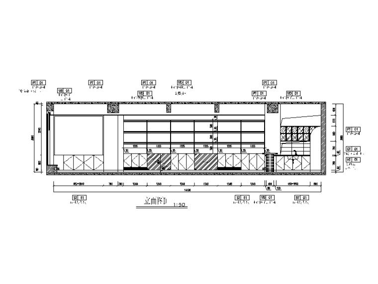 现代风格小巨蛋办公室设计CAD施工图(含实景图)_3