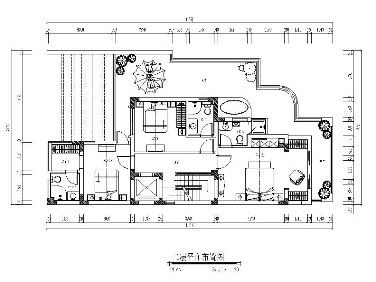 五层别墅设计CAD施工图(含效果图)