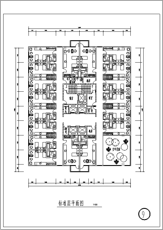 3套现代宾馆酒店建筑设计施工图CAD_7