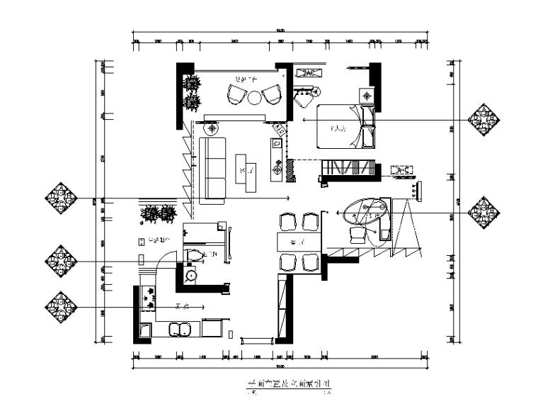现代简约风格样板间设计施工图(含效果图)_1
