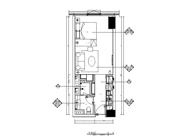 五套不同户型样板房设计CAD全套施工图