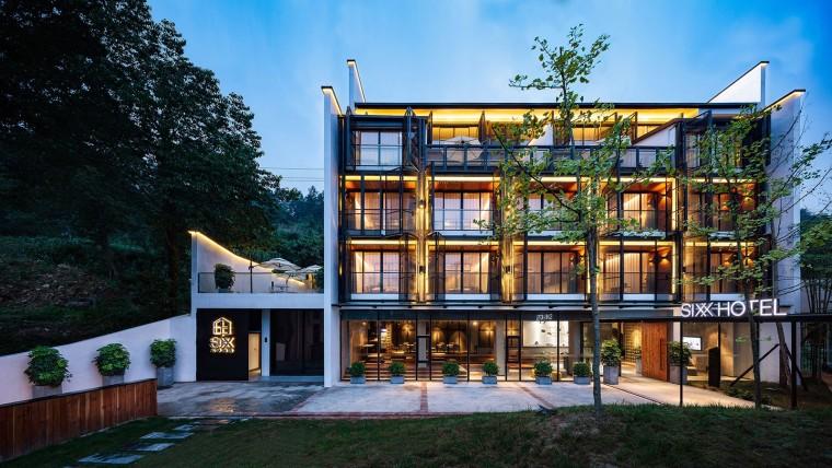 张家界传统湘西风格的六甲设计酒店-1