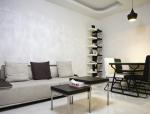 现代风格简约一室小户室内装修设计实景图