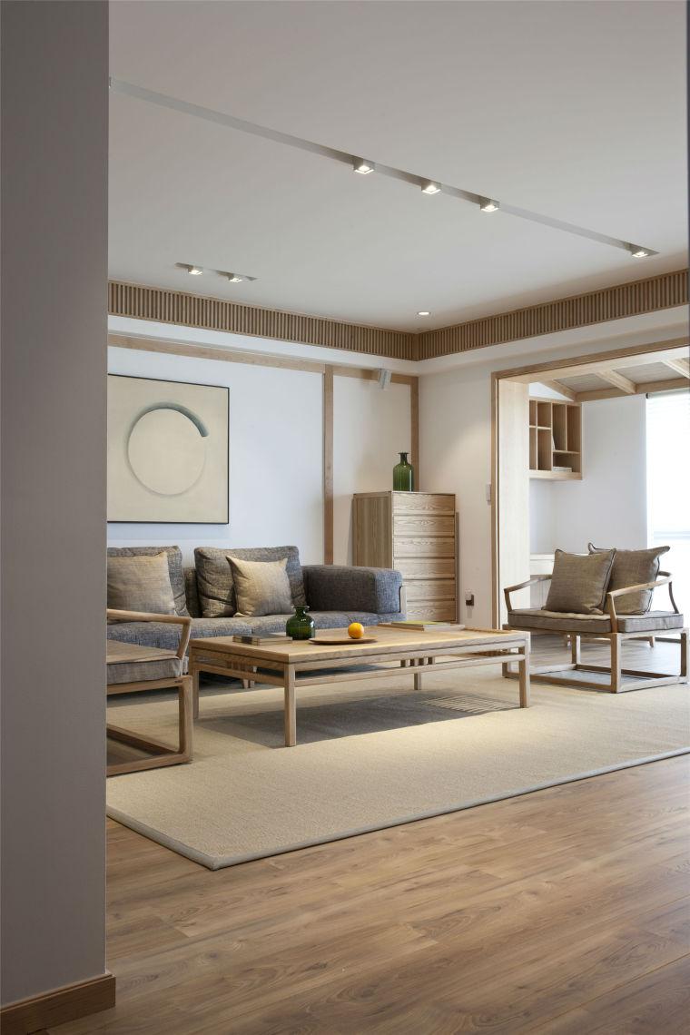 简单自然的中式风格住宅室内实景图 (5)