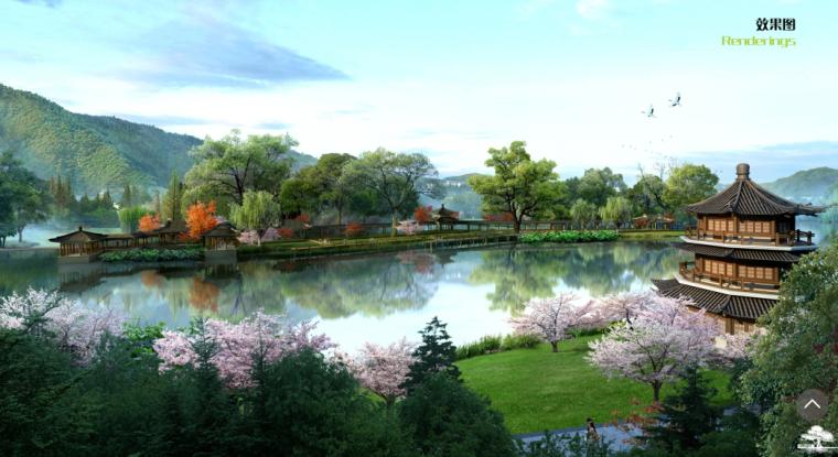 [江西]红豆杉生态风情小镇(度假,休闲)A-3 水景效果图
