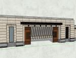 御府77居住区大门景观SU模型设计(新中式风格)