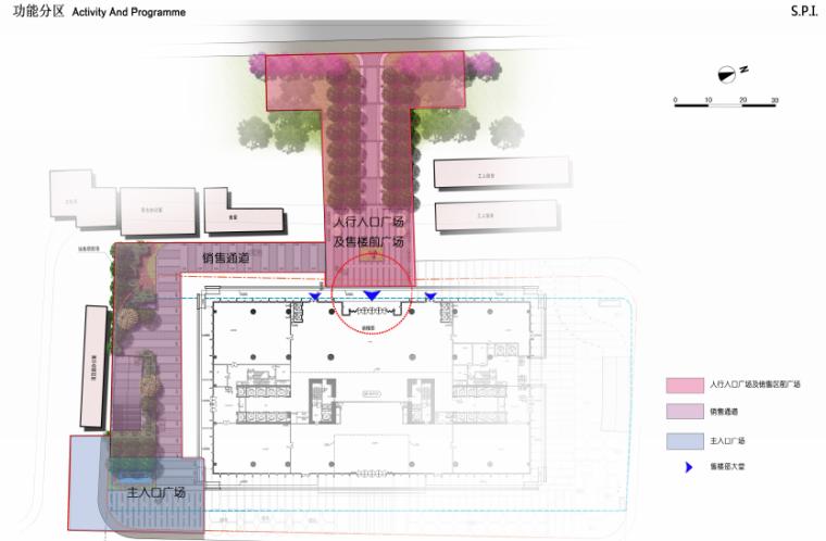 海联大厦(销售期)景观深化设计方案文本-海联大厦( 销售期)景观深化设计方案文本A-5功能分区