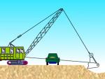 拉铲挖土流程动画演示