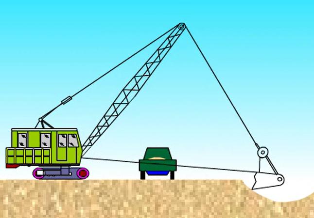 拉铲挖土流程动画演示_1