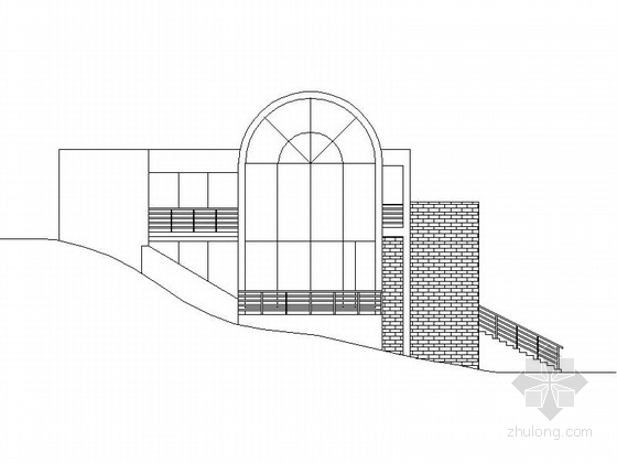 三层简约山地别墅方案图