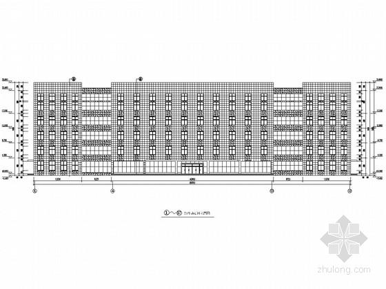 五层框剪业务办理综合服务楼外墙施工图(石材幕墙)